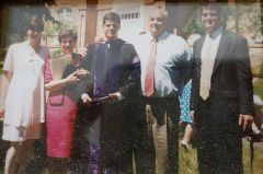 Photo of R. Clarke Speaks and family after graduating from Law School
